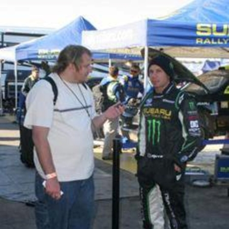 Dave Mirra being interviewed by our publisher Anthony Caruso III (Photo by Phil Wilgus)