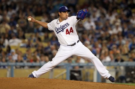 Vicente Padilla makes a start for the Los Angeles Dodgers
