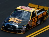The South Point Hotel & Casino driver Brendan Gaughan competing in the 2011 NASCAR Camping World Truck Series race