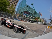 Verizon IndyCar driver Will Power racing on Sunday at the Baltimore Grand Prix