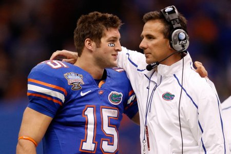 Urban Meyer and Tim Tebow (Getty Images)