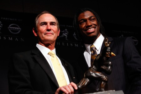 Robert Griffin III and Baylor head coach Art Briles (Getty Images)