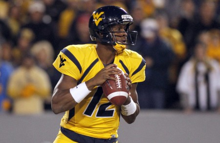 Geno Smith is seen here as the West Virginia Mountaineers quarterback (Getty Images)
