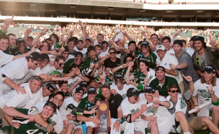 Stevenson Men's Lacrosse team after winning the NCAA Division III National Championship (Photo by Stevenson Athletic Communications)