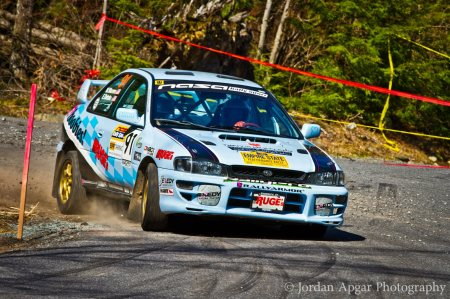 Erika Detota driving her RallyCar (Photo by Jordan Apgar)