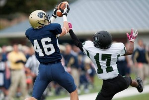 Jeff Mattonelli's second quarter touchdown (Photo by TCNJ Athletics)