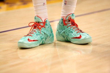 LeBron James' Christmas shoes (Getty Images)