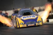 NAPA Auto Parts Funny Car pilot Ron Capps racing in an undated 2014 photo