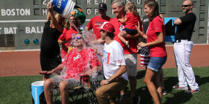 Peter Frates takes part in the ALs Ice Bucket Challenge (Facebook)