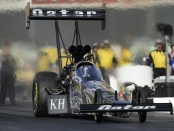 Top Fuel pilot Shawn Langdon is seen here driving the Al-Anabi Racing Dragster