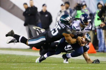 Philadelphia Eagles linebacker Mychal Kendricks looking to make a tackle