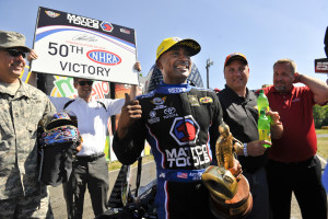 Antron Brown 50th win NHRA Drag Racing Don Schumacher Racing