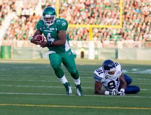 Darian Durant torn Achilles tendon CFL Canadian Football League Quarterback Injured Saskatchewan Roughriders Winnipeg Blue Bombers