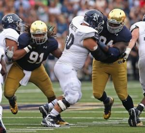 Jarron Jones Notre Dame Fighting Irish College Football NCAA