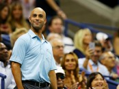 Former tennis player James Blake attends the U.S. Open semifinals match between Roger Federer and Stan Wawrinka
