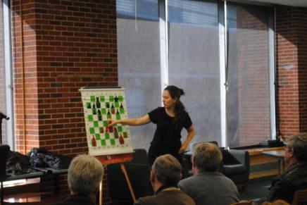 Irina Krush teaches chess atOCC