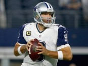 Tony Romo is seen here as the Dallas Cowboys quarterback (Getty Images)