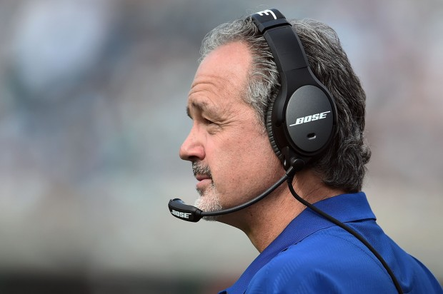 Indianapolis Colts head coach Chuck Pagano watches action against the Jacksonville Jaguars