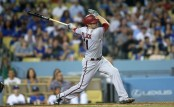 A.J. Pollock is seen here batting against the Los Angeles Dodgers (Getty Images)