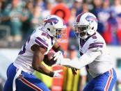 Buffalo Bills running back LeSean McCoy receives a handoff from Tyrod Taylor against the Philadelphia Eagles