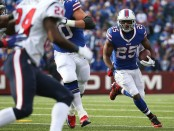Buffalo Bills running back LeSean McCoy rushing the ball against the Houston Texans