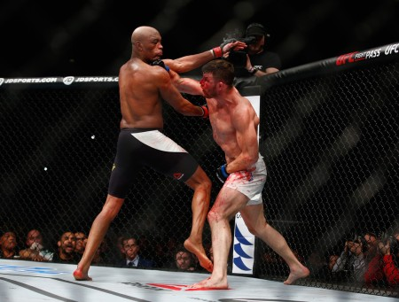 Michael Bisping and Anderson Silva (Getty Images)