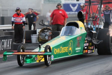 John Deere-sponsored Josh Hart leads qualifying at Atco Dragway