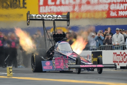 Brown defeats Force in the Top Fuel final round to get his 60th Wally