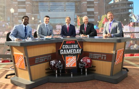 Nick Saban on the College GameDay set (Photo by ESPN)