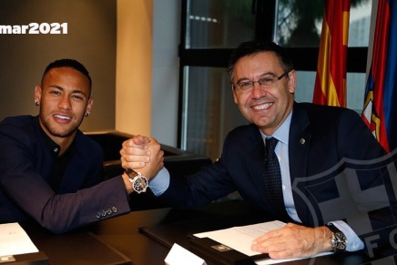 Neymar re-signs with FC Barcelona