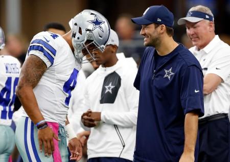 Tony Romo and Dak Prescott (Getty Images)