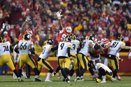 Chris Boswell making a field goal (Getty Images)