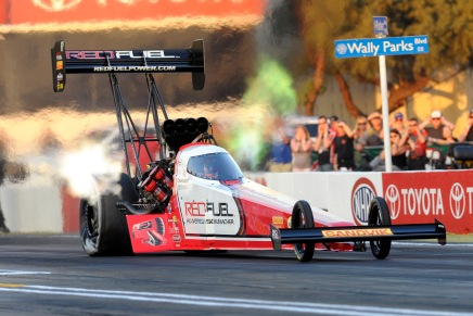Langdon's Top Fuel dragster parked