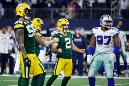 Crosby's kick sends the Packers past the Cowboys