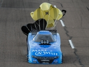 Tommy Johnson Jr. after his Saturday pass (Photo by the NHRA)