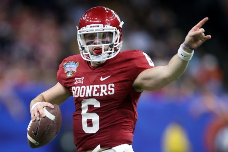 Baker Mayfield looking downfield (Getty Images)