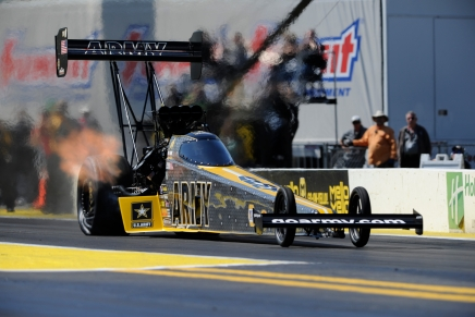 The Sarge takes his U.S. Army Dragster to the provisional Top Fuelspot