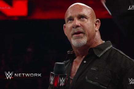 Goldberg says goodbye to the WWE Universe