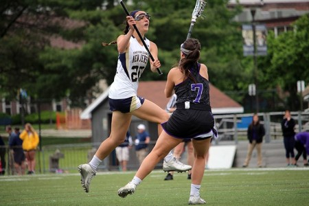 Allie Gorman scored twice to advance the Lions to the regional final for the 17th year in row (Photo by TCNJ Sports Information Desk)