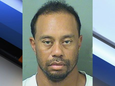Tiger Woods mugshot (Photo by WPTV)