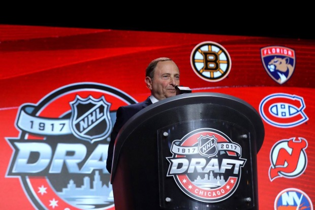 Gary Bettman announcing the pick (Getty Images)