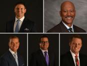 Dusty Dvoracek, Rod Gilmore, Brock Huard, Tom Luginbill and Greg McElroy (Photo by ESPN)