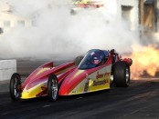 Sarah Edwards in the Queen of Diamonds II Jet Dragster (Photo by Sarah Edwards)