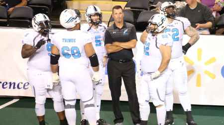 Philadelphia Soul offense (Photo by the Arena Football League)