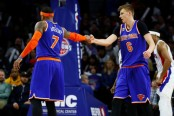 Kristaps Porzingis and Carmelo Anthony (Getty Images)