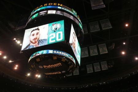 Gordon Hayward's video message to the Boston Celtics crowd (Getty Images)