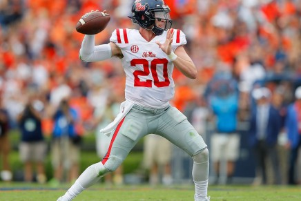 Ole Miss QB done for the season