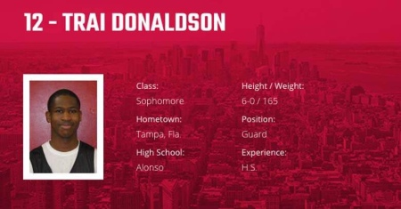 Trai Donaldson (Bio Page from St. John's Red Storm)