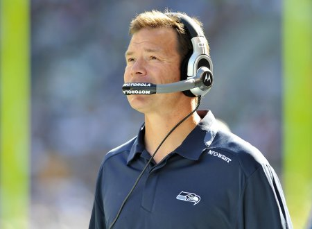 Jim Mora Jr. seen here as the Seattle Seahawks head coach (Getty Images)