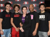 LiAngelo Ball and his Ball family (Getty Images)